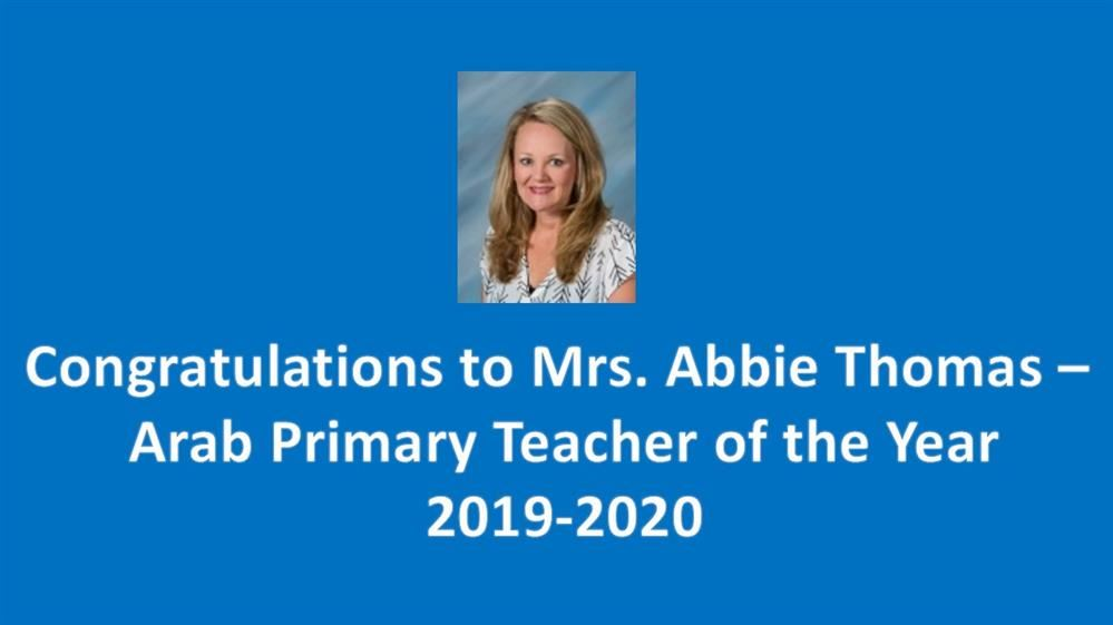 Arab Primary Teacher of the Year 2019-2020