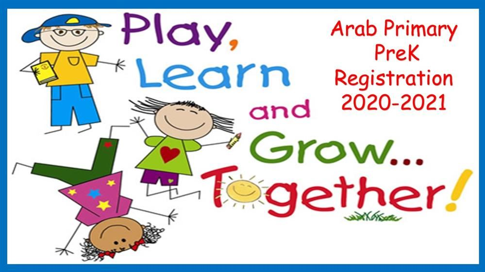 2020 -2021 Arab Primary PreK Registration