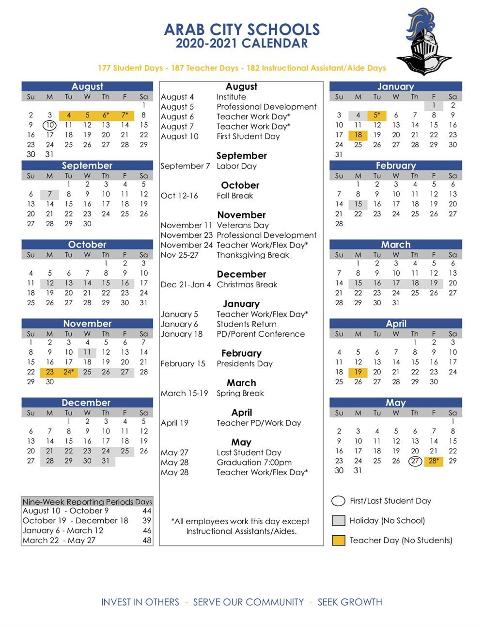Hawaii Doe Calendar 2020-21 Academic Calendars / 2020 21 ACS Calendar