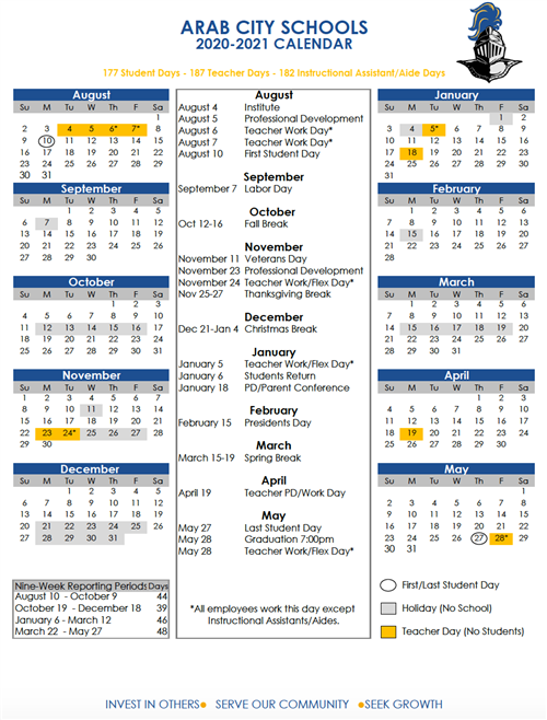 Calendar 2020-2021 School Calendars / 2020 2021 ACS School Calendar