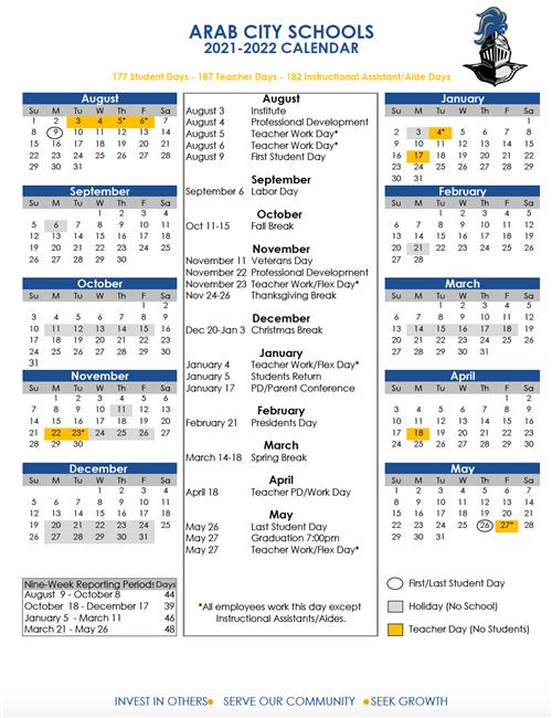 2021-2022 Calendar School Calendars / 2021 2022 ACS School Calendar