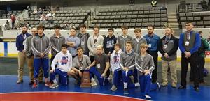 Wrestling Team with 2nd place Trophy
